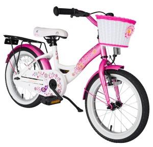 Kinderfahrrad ab 3 Jahren Bikestar Premium Edition in Flamingo Pink und Diamant Weiß