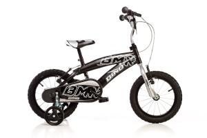 Schwarz Silvernes BMX Kinderfahrrad