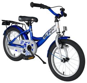 Kinderfahrrad 16 Zoll Jungen: Bikestar 16 Zoll Champion Blau