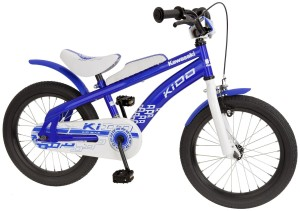 Blaues Kawasaki Fahrrad Kidd